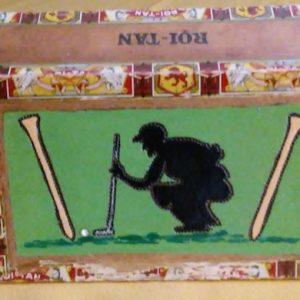 Golfer cigar Box