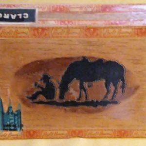 Cigar Box, Resting Cowboy and Horse