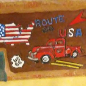 Vitage Cigar Box with Pickup Truck