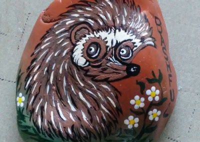 Painted Rock by Shirley's Yard Art
