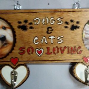 Dog and Cat leash and collar Hanger