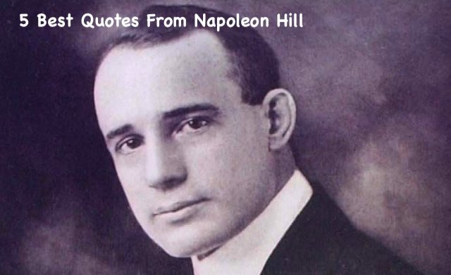 Quotes from Napoleon Hill