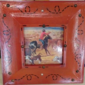Western Picture Frame by Shirley's Yard Art