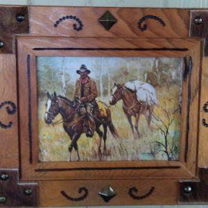 Western Motif Refurbished Picture Frame